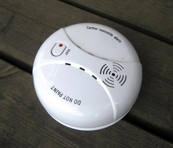 A carbon monoxide detector with the wording
